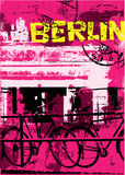 Berlin city. Vertical background in urban grunge style with typographie vector illustration