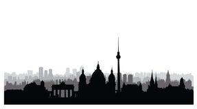 Berlin city buildings silhouette. German urban landscape. Berlin Royalty Free Stock Image