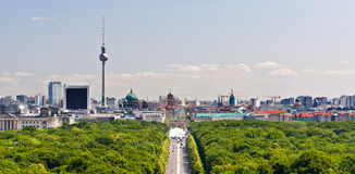 Berlin city center panorama Stock Photo