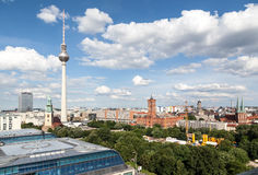 Berlin City Hall e torre della TV Immagine Stock