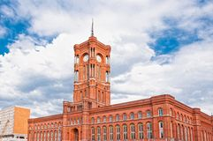 Berlin city hall, (rathaus), Alexanderplatz, Germany Royalty Free Stock Image