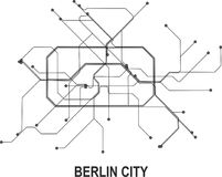 Berlin City map. Berlin subway map available in vector file format Stock Photography