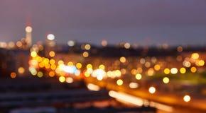 Berlin City na noite como o fundo abstrato foto de stock royalty free