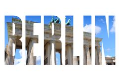 Berlin city name Royalty Free Stock Image