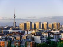 Berlin city panorama Stock Photos