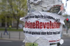 Berlin City with political statement Stock Photography