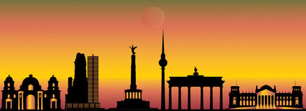 Berlin city skyline Stock Photo