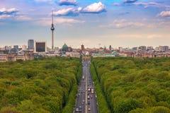 Berlin. City skyline and Tiergarten, , Germany Stock Photo