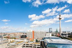 Berlin city skyline with TV tower. Travel to Germany - Berlin city skyline with TV tower from Berliner Dom in september Royalty Free Stock Photo