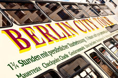 Berlin city tour bus Stock Images
