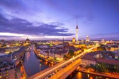 Berlin Cityscape Arkivbilder