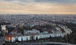 berlin cityscape from above Royalty Free Stock Images
