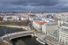 berlin cityscape from above Royalty Free Stock Photos