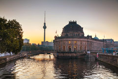 Berlin cityscape early in the morning Stock Images