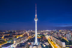Berlin Cityscape. Berlin, Germany view of TV tower Royalty Free Stock Photos