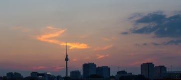 Berlin cityscape sundown Royalty Free Stock Photos