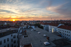 Berlin cityscape sundown Royalty Free Stock Images