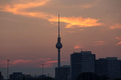 Berlin cityscape sundown Stock Image