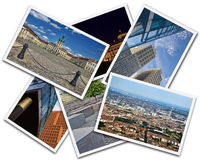 Berlin Collage. Collage of photos from Berlin Germany isolated on white background Stock Photography