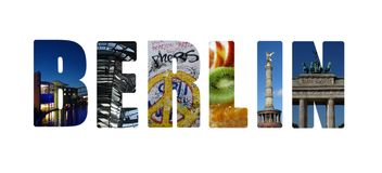Berlin collage on white Royalty Free Stock Image