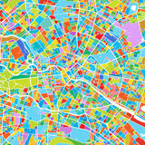 Berlin Colorful Vector Map Fotografie Stock