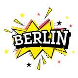 Berlin Comic Text no PNF Art Style ilustração do vetor