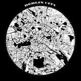 Berlin Compass Design Map Artprint Immagini Stock Libere da Diritti
