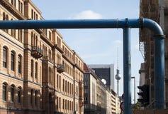 Berlin Construction Work. Berlin Street view of the construction aroung the centre of berlin Royalty Free Stock Images