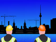 Berlin construction workers Royalty Free Stock Image