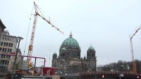 Berlin construction works stock video