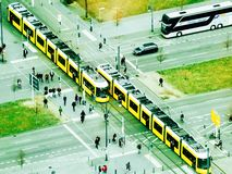 Berlin crossroads. From the TV tower Stock Image