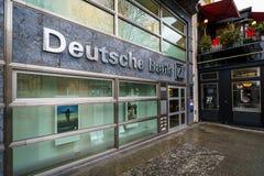 Deutsche Bank office in the Kurfurstendamm. BERLIN - DECEMBER 21, 2017: Deutsche Bank office in the Kurfurstendamm. Deutsche Bank AG is a German global banking Royalty Free Stock Photos