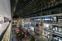 The shopping center `Mall of Berlin` at Leipziger Platz. BERLIN - DECEMBER 18, 2017: The shopping center `Mall of Berlin` at Leipziger Platz in the Christmas Royalty Free Stock Photography