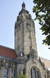 Berlin, Deutschland 27. August: Turm von Charlottenburg Wilmersdorf Rathaus in Berlin lizenzfreies stockbild