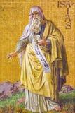 BERLIN, DEUTSCHLAND, FEBRUAR - 14, 2017: Das Fresko des Prophets Jesaja in Herz Jesu-Kirche Lizenzfreie Stockbilder