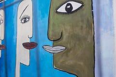 BERLIN, DEUTSCHLAND - 15. SEPTEMBER: Berlin Wall-Graffiti am 15. September 2014 gesehen, Berlin, Ostseiten-Galerie Es ` s 1 3 Lizenzfreies Stockbild