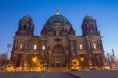 Berlin - The Dom and the Fernsehturm in morning dusk.  Stock Photo