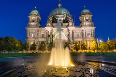 Berlin Dom and a fountain Royalty Free Stock Image