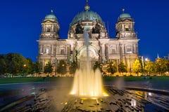 Berlin Dom i fontanna Obraz Royalty Free