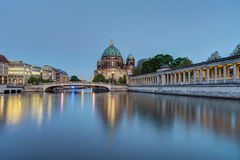 The Berlin Dom and the river Spree Stock Photos