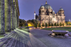 Berlin Dom And Steps Stock Photo