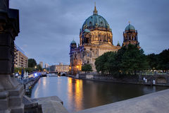 Berlin Dome at night Stock Photography
