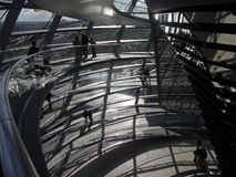 Berlin - Dome of Reichstag Royalty Free Stock Photo