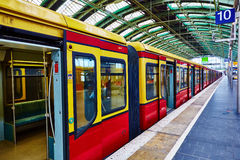 Berlin East railway station Royalty Free Stock Images