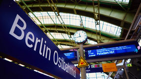 Berlin East railway station Royalty Free Stock Photos