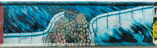 Berlin East Side Gallery Images libres de droits