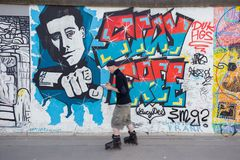 Berlin East Side Gallery artwork Stock Photography