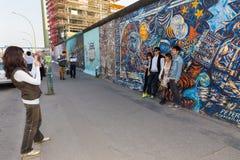 Berlin East Side Gallery artwork Stock Images