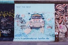 Berlin East Side Gallery artwork Stock Images