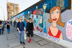 Berlin East Side Gallery artwork Stock Photo